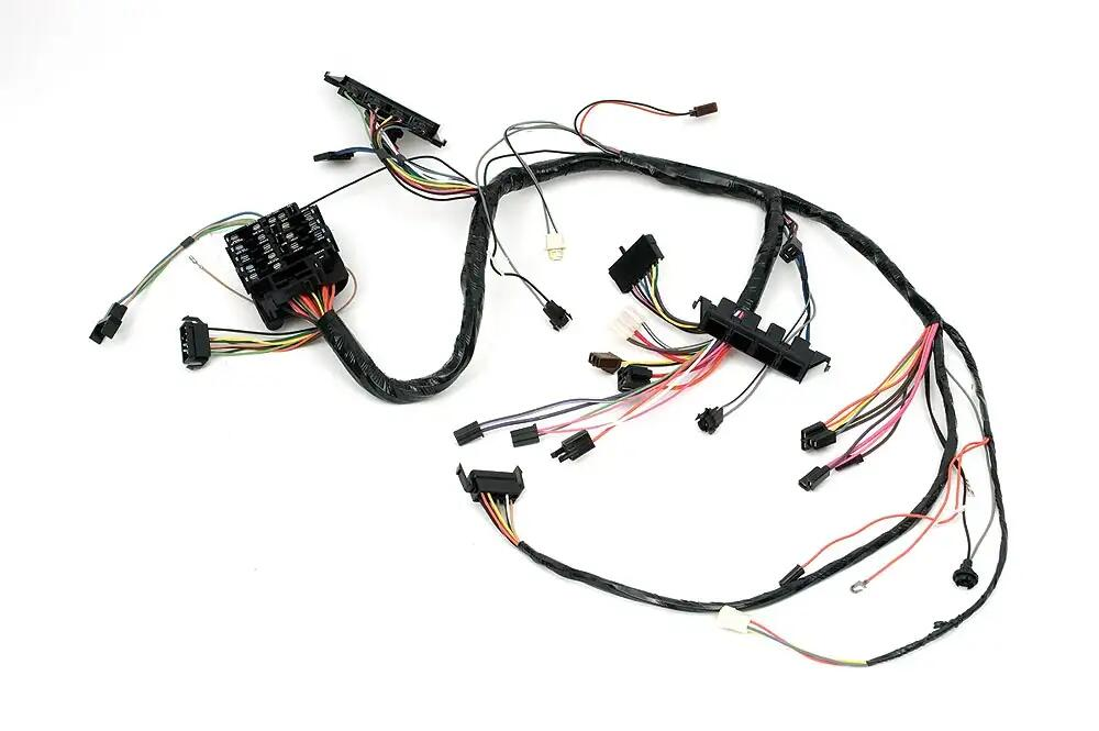 Camaro Under Dash Main Wiring Harness For Cars With Manualtransmission Console Shift Factory Console Gauges 1969