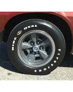 Camaro Tire, F60 x 15, Firestone Wide Oval, With Raised White Letters, 1970-1974