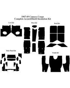 Camaro Insulation, QuietRide, AcoustiShield, Complete Kit, Coupe, 1967-1969