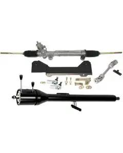 1967-1968 Camaro Steeroids Rack And Pinion Conversion With Black Tilt Steering Column, Manual