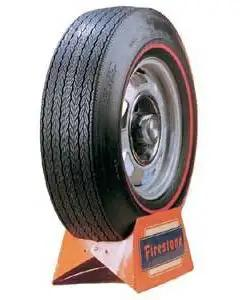 Camaro Tire, F70 x 15, Firestone Wide Oval Red Line, 1970-1974