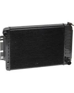 Camaro Radiator, Copper 3 Core, Small Block, For Cars With Manual Transmission & Without Air Conditioning, U.S. Radiator, 1970-1971