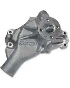 Camaro Water Pump, Small Block V8, Long Style, Aluminum,Aluminum, Hi-Flow, Stewart, 1987-1992