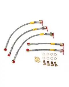1982-1983 Camaro Goodridge Braided Disc Brake Hose Kit, Stainless Steel, With Rear Drum Brake