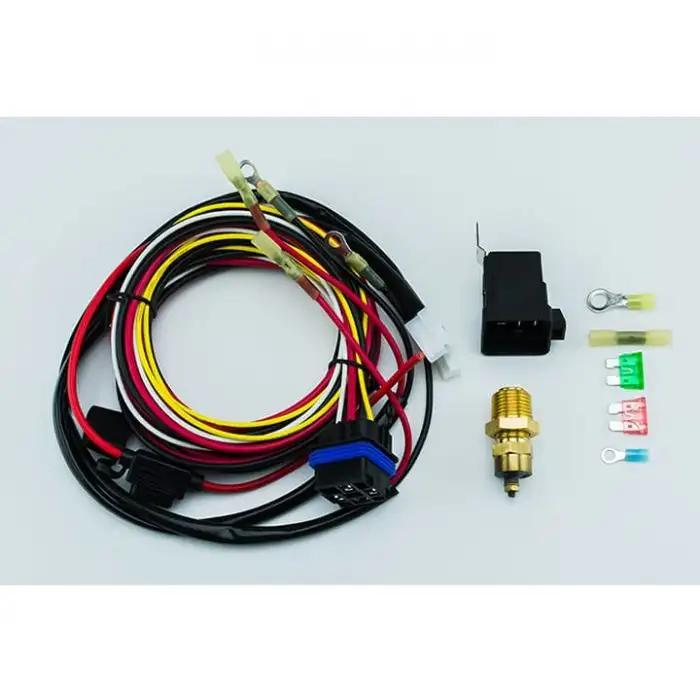 Works on Single or Dual Fans Bronco Electric Fan Relay Wiring Kit