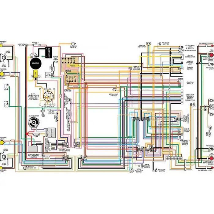 camaro color laminated wiring diagram, 1967-1981  ricks camaro
